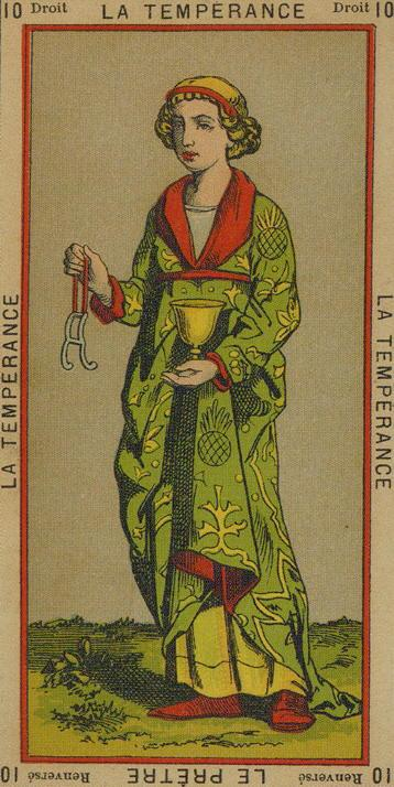10 The Temperance Temperance The Priest The Etteilla Tarot The Book of Thoth