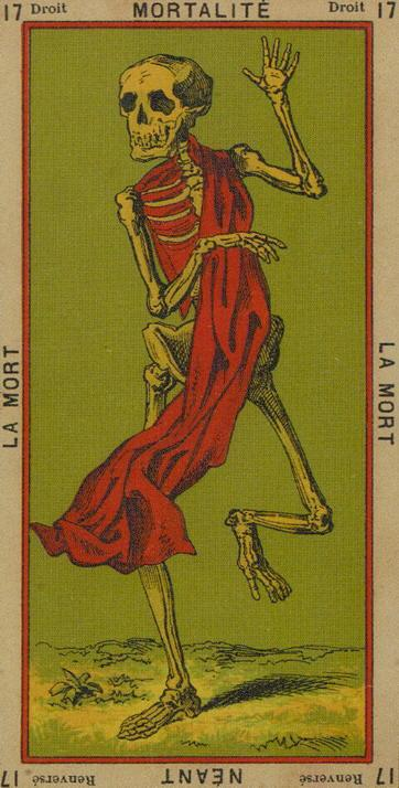 17 Death Mortality Nil Nothingness The Etteilla Tarot The Book of Thoth