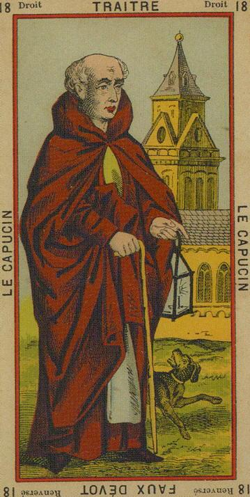 18 The Hermit Traitor betrayal Falsehood The Etteilla Tarot The Book of Thoth