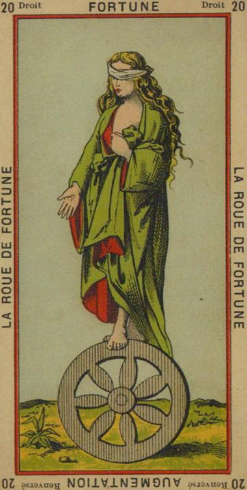 20 The Wheel of Fortune Fortune Increase The Etteilla Tarot The Book of Thoth