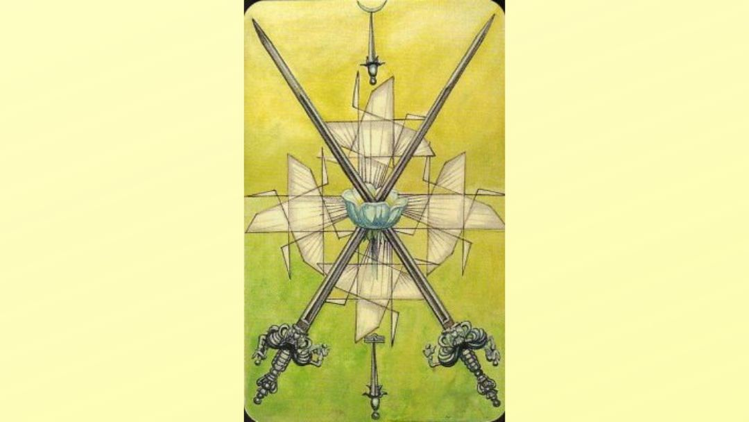 2 of Swords - Book of Thoth Minor arcana