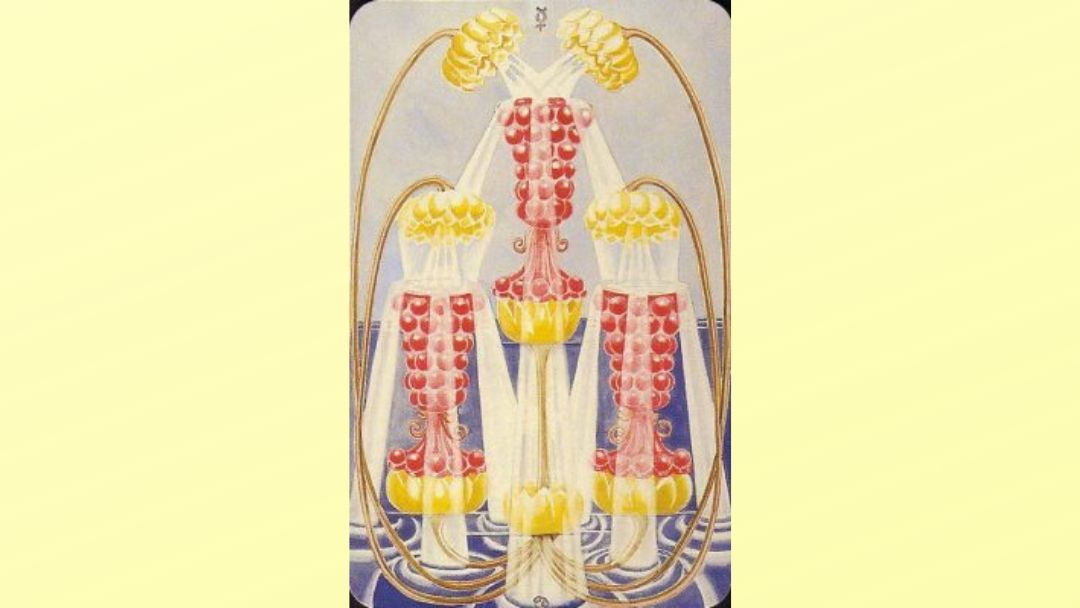 3 of Cups - Book of Thoth Minor arcana