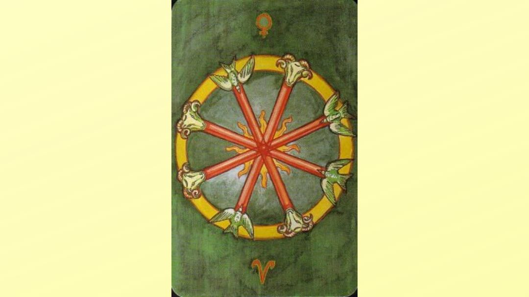 4 of Wands - Book of Thoth Minor arcana