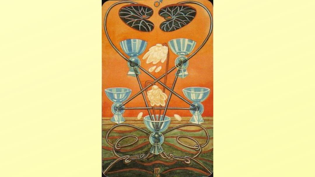 Five of Cups - Book of Thoth Minor Arcana