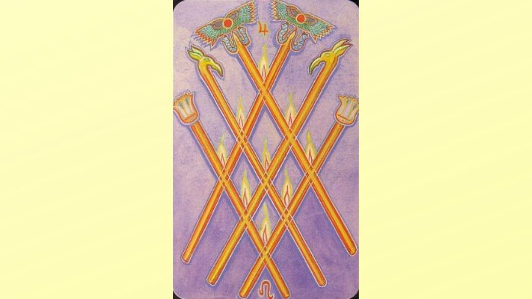 6 of Wands - Book of Thoth Minor arcana