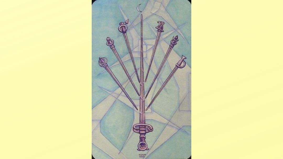 7 of Swords - Book of Thoth Minor Arcana