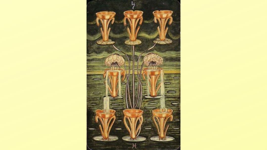 8 of Cups - Book of Thoth Minor Arcana