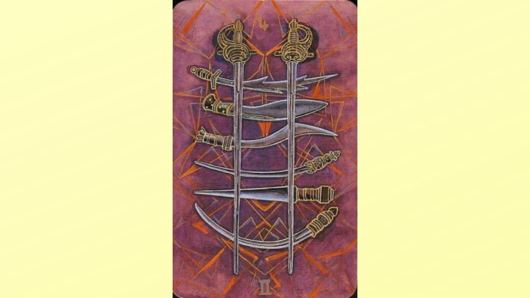 8 of Swords - Book of Thoth Minor Arcana