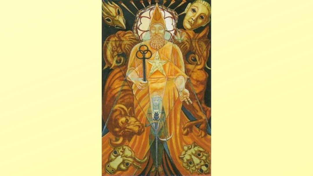 The Hierophant - Book of Thoth Major arcana