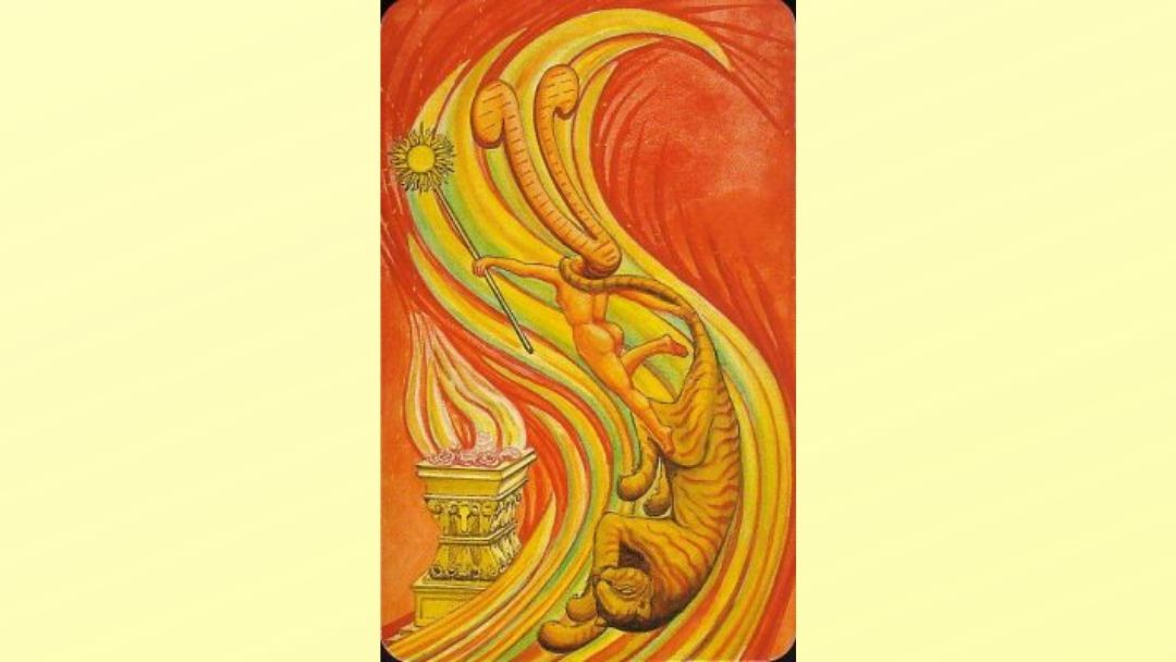 Princess of Wands - Book of Thoth court card