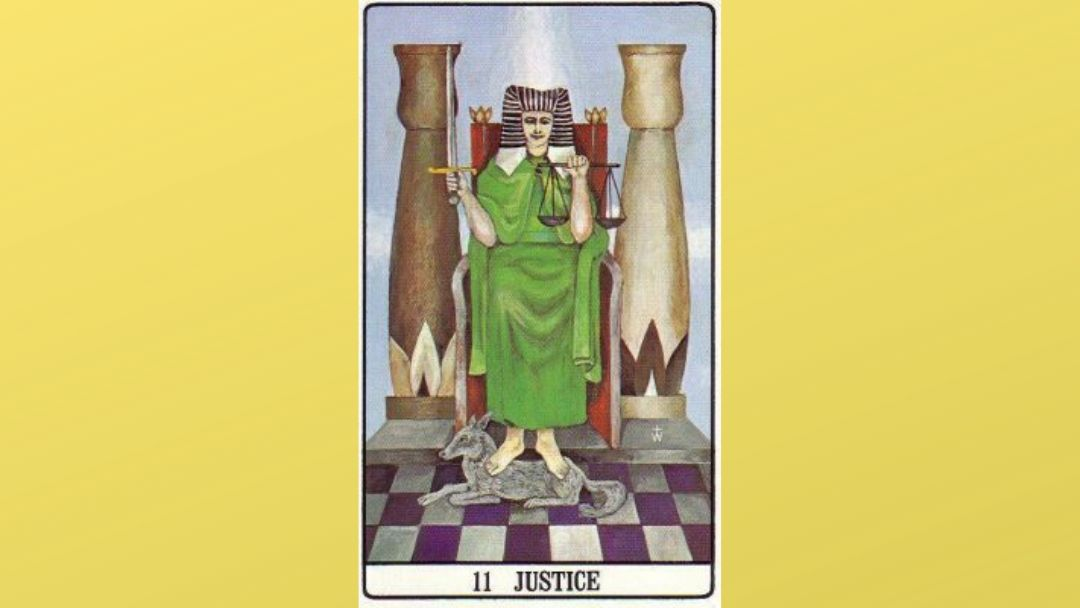11 Justice - Golden Dawn Major Arcana
