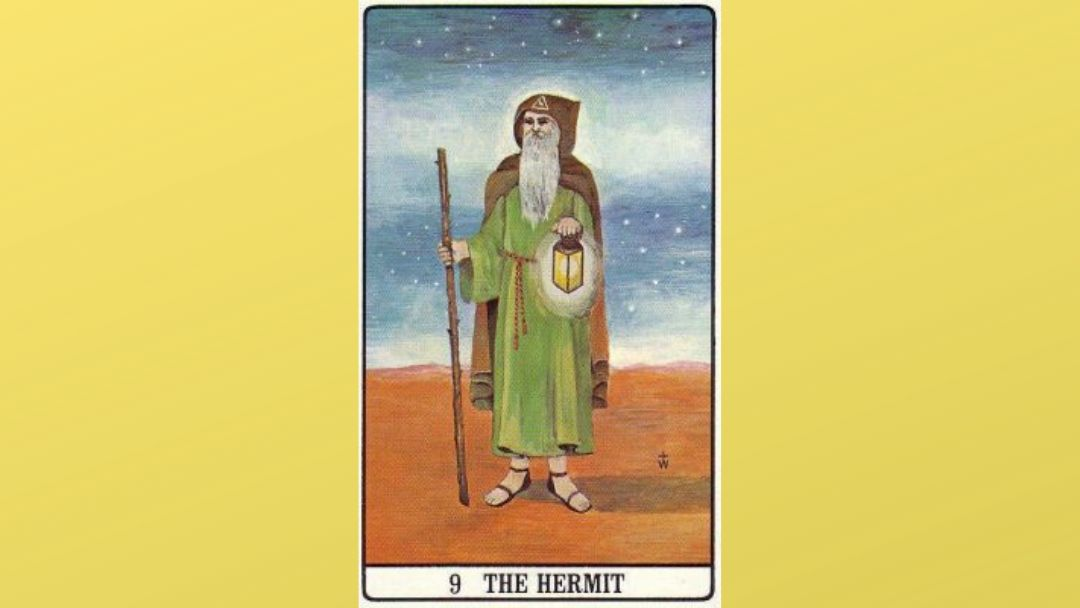 9 The Hermit - Golden Dawn Major Arcana