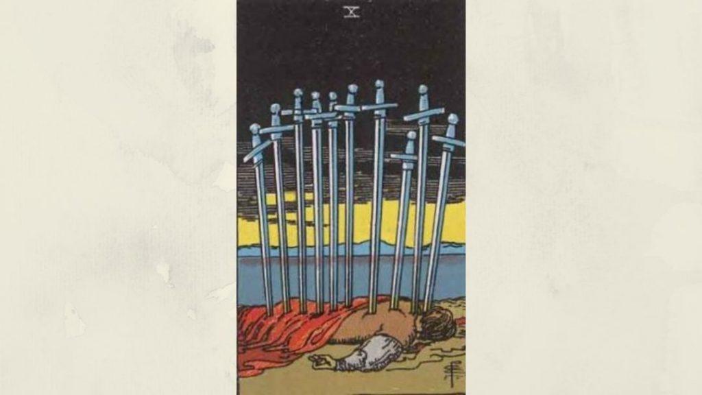10 of Swords - Rider-Waite Minor Arcana