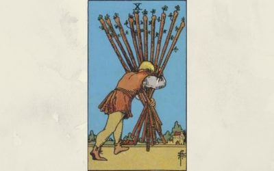 10 of Wands – Rider-Waite