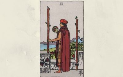 2 of Wands – Rider-Waite