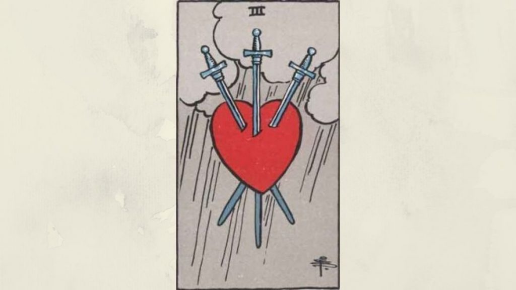 3 of Swords - Rider-Waite Minor Arcana