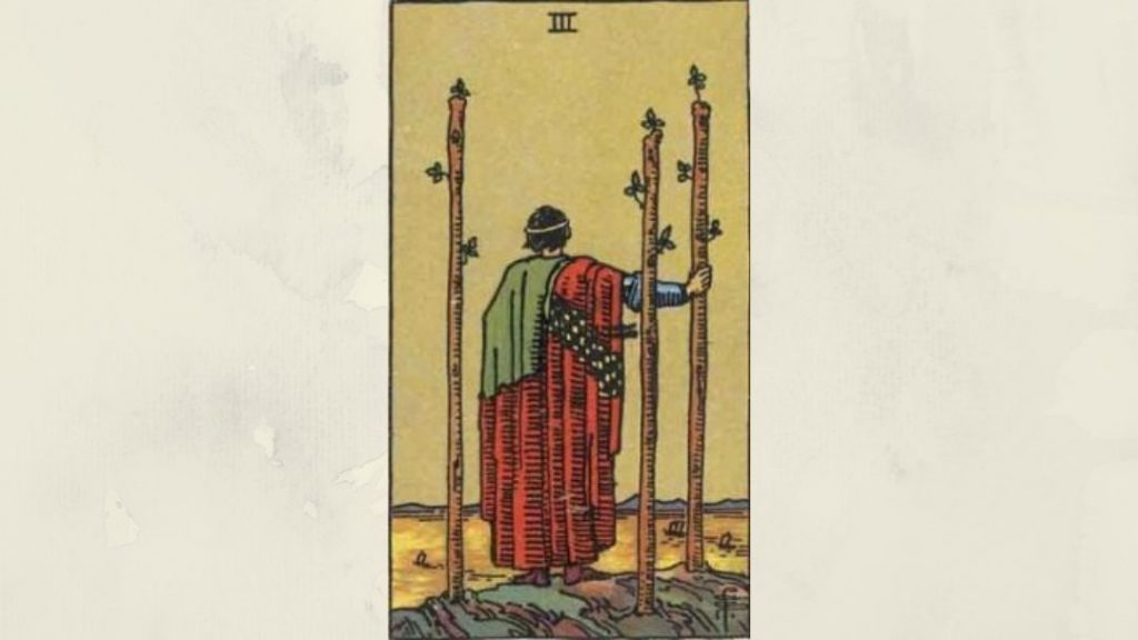 3 of Wands - Rider-Waite Minor Arcana