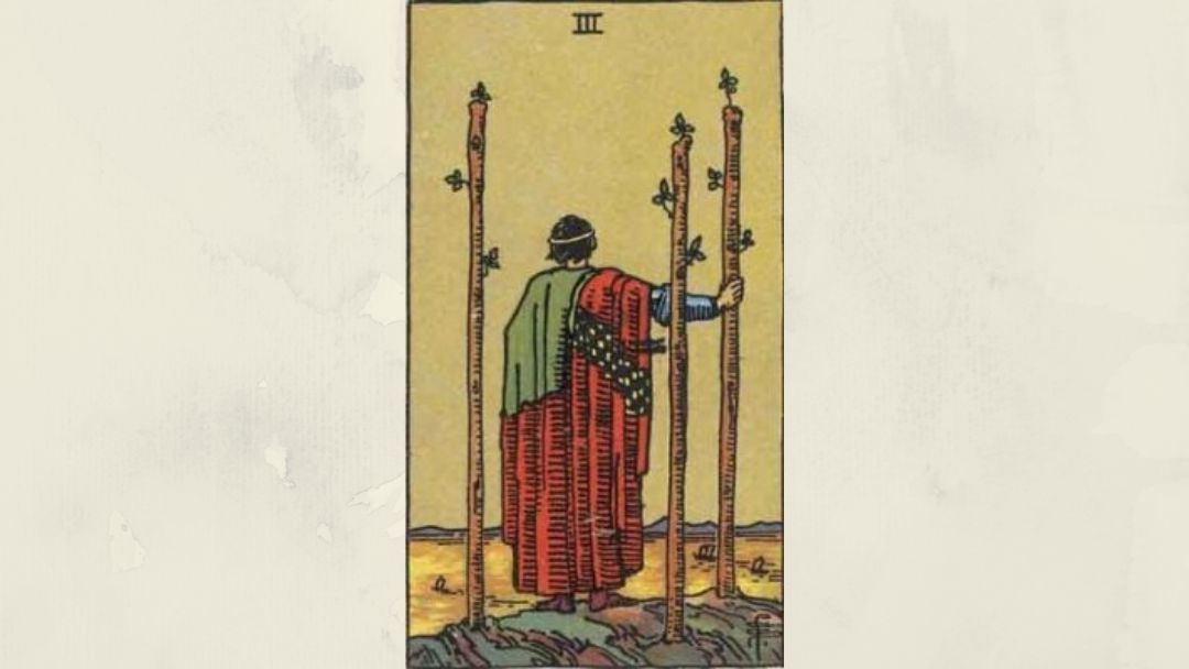 3 of Wands – Rider-Waite