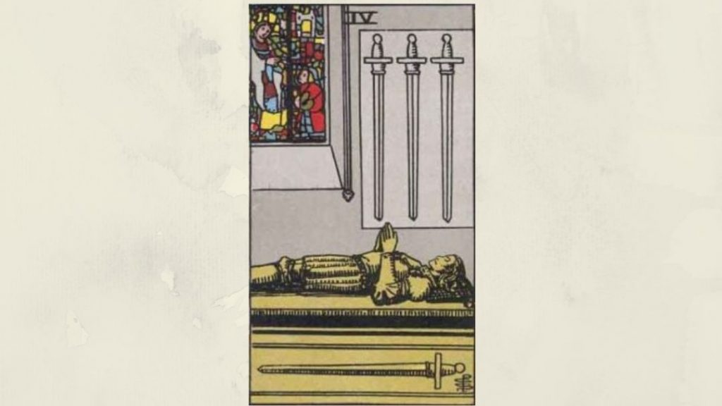 4 of Swords - Rider-Waite Minor Arcana