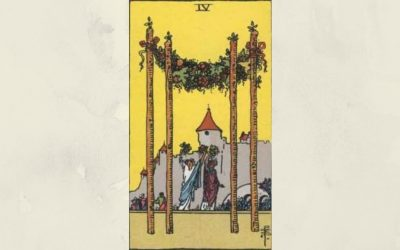 4 of Wands – Rider-Waite