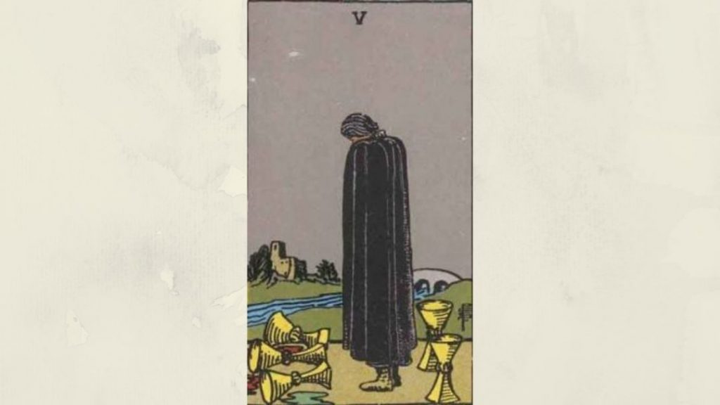 5 of Cups - Rider-Waite Minor Arcana