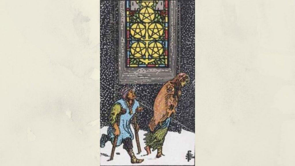 5 of Pentacles - Rider-Waite Minor Arcana