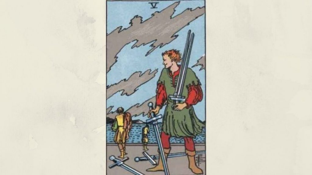5 of Swords - Rider-Waite Minor Arcana