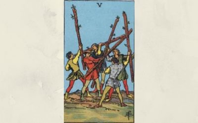 5 of Wands – Rider-Waite