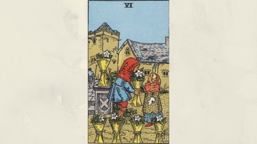 6 of Cups - Rider-Waite Minor Arcana