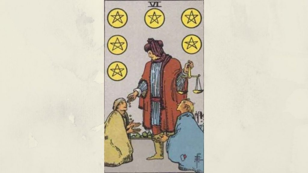 6 of Pentacles - Rider-Waite Minor Arcana