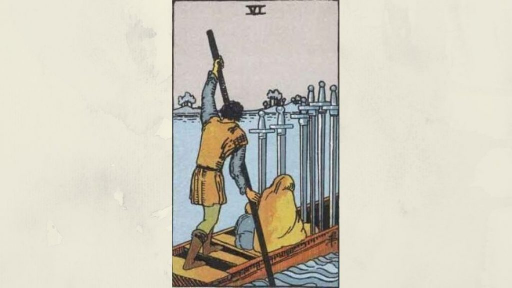 6 of Swords - Rider-Waite Minor Arcana