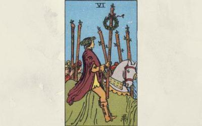 6 of Wands – Rider-Waite