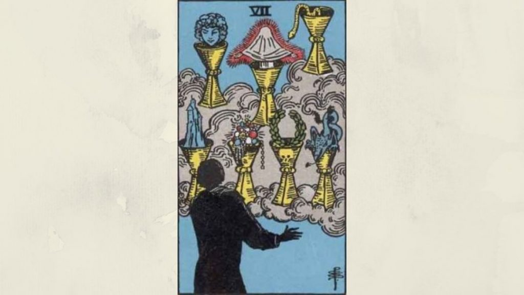7 of Cups - Rider-Waite Minor Arcana