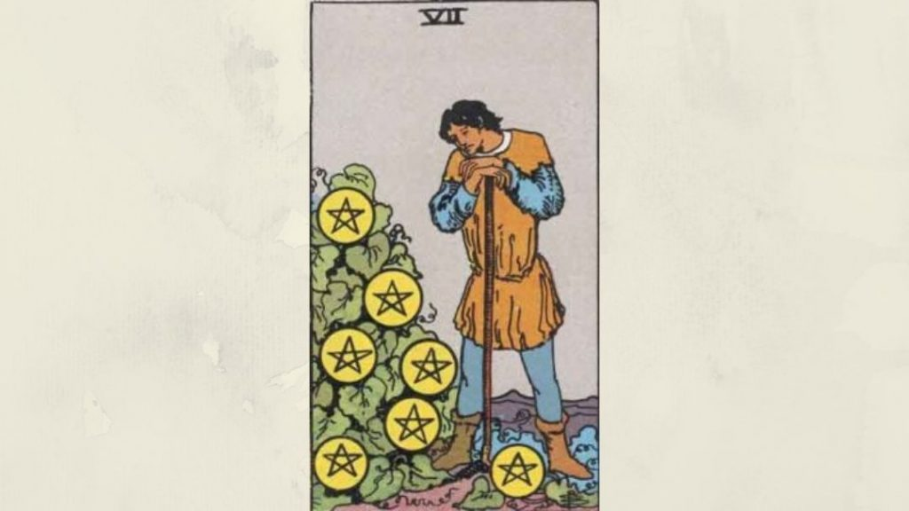 7 of Pentacles - Rider-Waite Minor Arcana