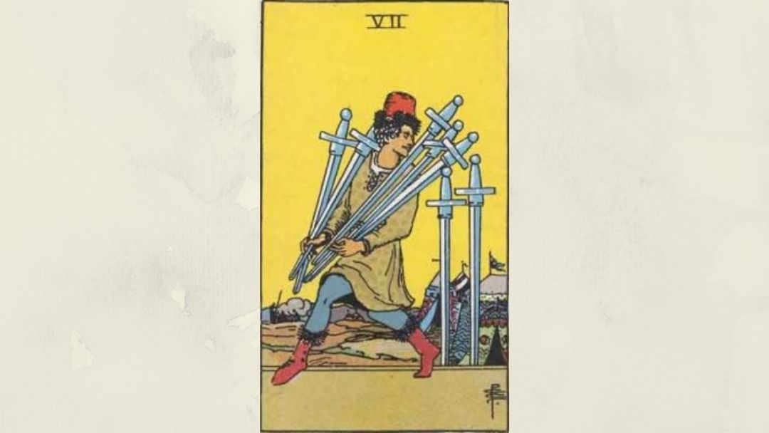 7 of Swords - Rider-Waite Mkinor Arcana