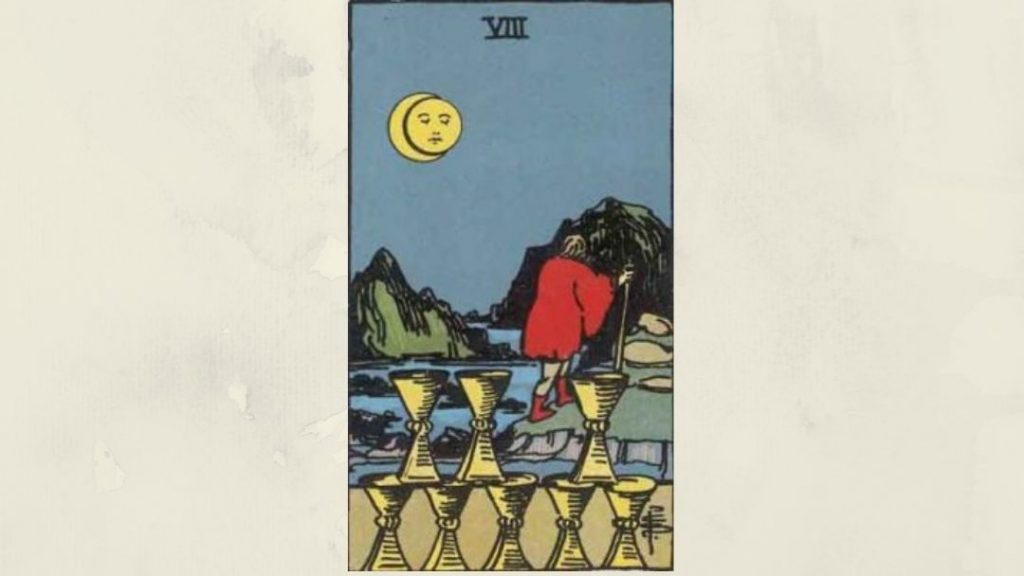 8 of Cups - Rider-Waite Minor Arcana