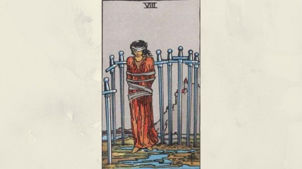 8 of Swords - Rider-Waite Minor Arcana