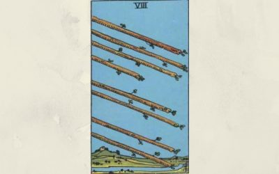 8 of Wands – Rider-Waite
