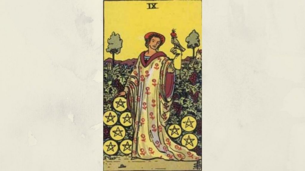9 of Pentacles - Rider-Waite Minor Arcana