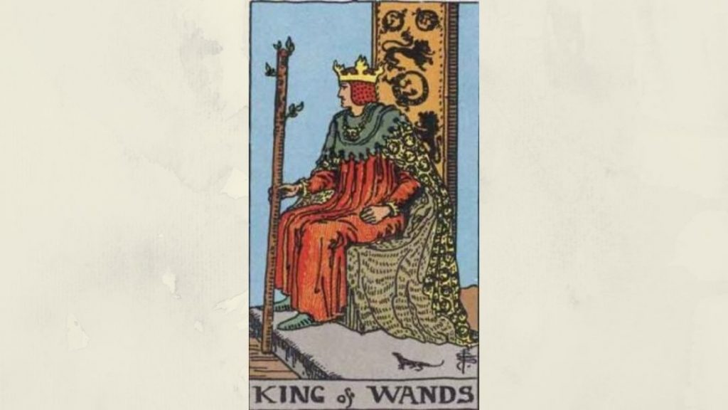 King of Wands - Rider-Waite Court Card