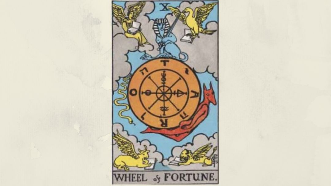 10 Wheel of Fortune - Rider-Waite Major Arcana