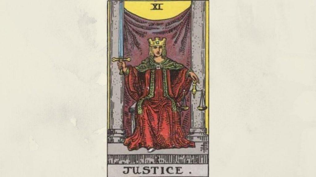 11 Justice - Rider-Waite Major Arcana