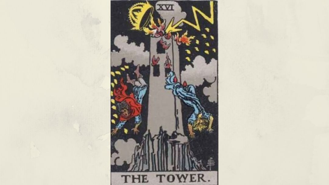 16 The Tower - Rider-Waite Major Arcana