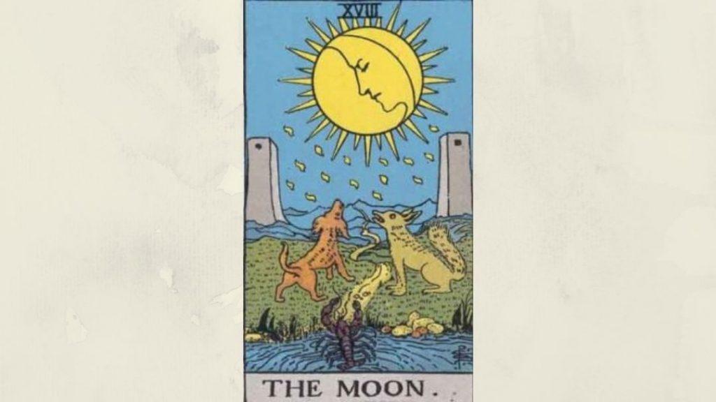 18 The Moon - Rider-Waite Minor Arcana