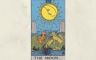 18 The Moon – Rider-Waite