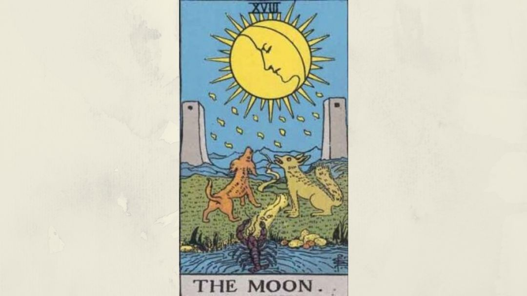 18 The Moon - Rider-Waite Minor Arcana