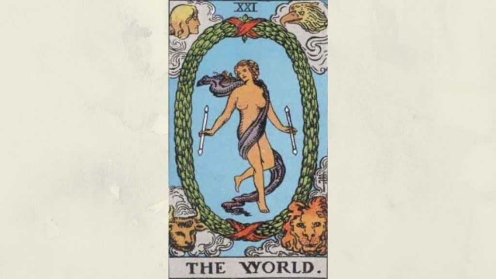 21 The World - Rider-Waite Major Arcana