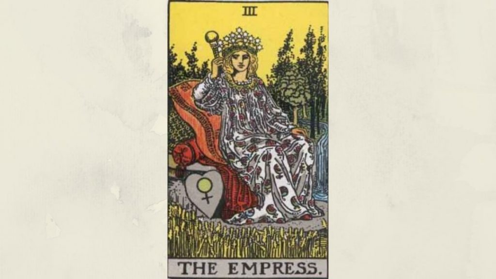 3 The Empress - Rider-Waite Major Arcana