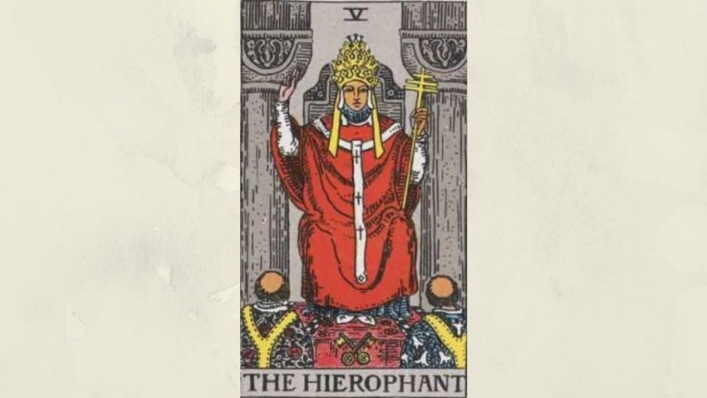 5 The Hierophant - Rider-Waite Major Arcana