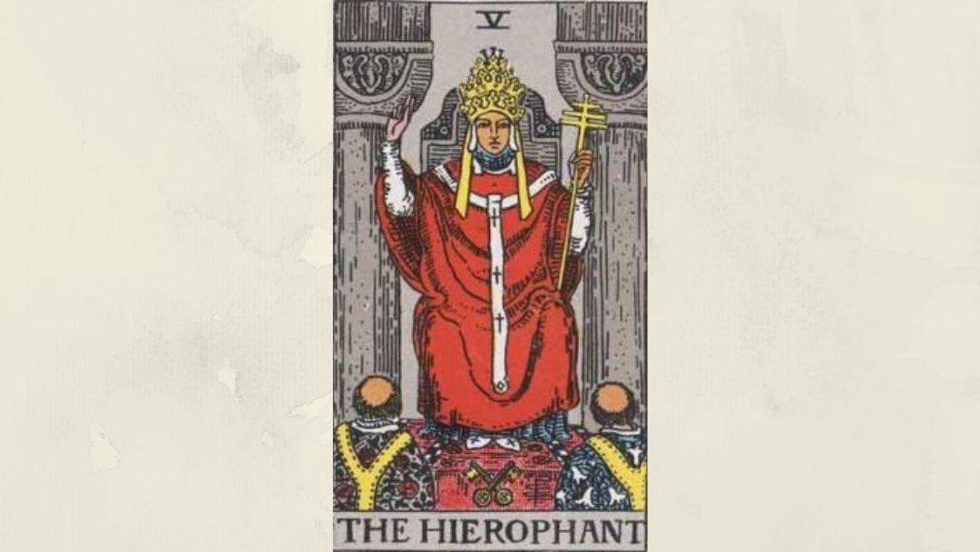 5 The Hierophant - Rider-Waite Major Arcana